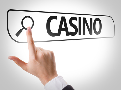 illustration d'une recherche de casino en ligne sur internet